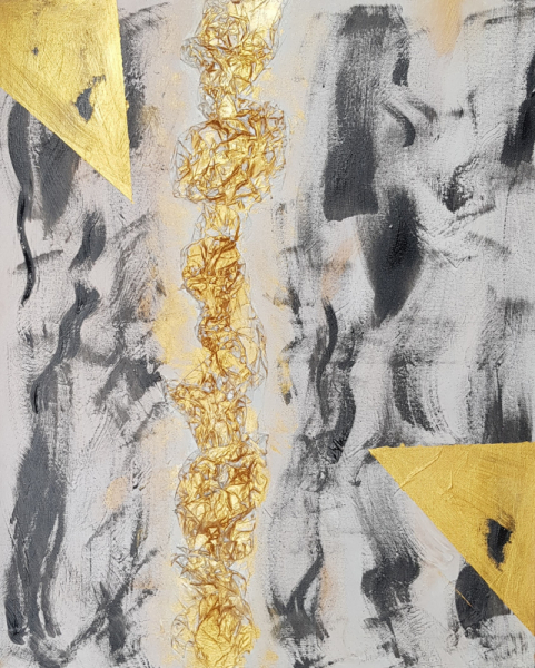 TABLEAU PEINTURE art abstrait abstract art Abstrait Acrylique  - OR VENDU