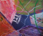 tableau abstrait geometrique abstrait : METAL 9