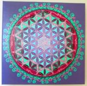 tableau autres fleur de vie mandala toile acrylique : Fleur de vie