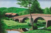 tableau paysages pont riviere haute loire : PONT DE DOMEYRAT Haute Loire