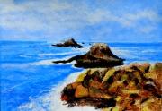 tableau marine mer bretagne rochers recifs : LA POINTE DU RAZ