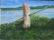 tableau paysages etier echalier barriere marais : ECHALIER