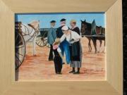tableau personnages foire challans marche vendee : A LA FOIRE DE CHALLANS