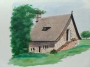 tableau architecture maison correzienne : MAISON CORREZIENNE L'ESCALIER EXTERIEUR