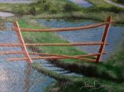 tableau paysages marais echalier barriere : ECHALIER