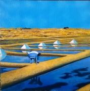 tableau paysages marais salants saunier paludier : MARAIS SALANTS
