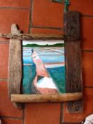 tableau paysages marais salant etier vendee : MARAIS SALANT