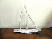 sculpture marine voilier mer regate bois flotte : REGATE