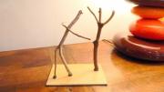 sculpture personnages bois flotte retrouvailles amis : RETROUVAILLES