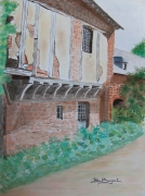 tableau architecture colonge la rouge correze : MAISON A COLOMBAGES - COLONGE LA ROUGE  (Corrèze)
