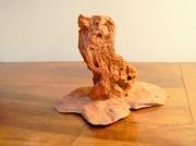 sculpture animaux chien animal domestique dressage : CHIEN ASSIS