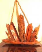 sculpture marine voilier bois flotte bateau mer : VOILIER