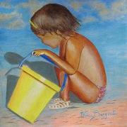 tableau personnages plage jeux enfant noirmoutier : JEUX DE SABLE