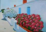 tableau paysages hortensias noirmoutier maison marin maison blanche : AU 83 AV MOURAIN