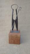 sculpture personnages sculpture berger fer outil : Le Berger