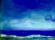 tableau paysages ciel mer reflets : Ciel de normandie
