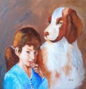 tableau personnages enfant chien complicite enfant chien : l'enfant et le chien
