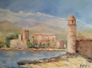tableau paysages collioure mer architecture : Lumiere de Collioure