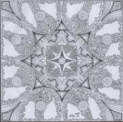 dessin abstrait dessin geometrique abstrait mandala : Dessin 10 série a