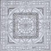 dessin abstrait dessin abstraction geometrie mandala : dessin 15 série a