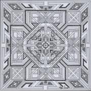 dessin abstrait dessin geometrique abstrait mandala : dessin 1 série b