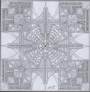 dessin abstrait dessin geometrique abstrait mandala : dessin 14 série a