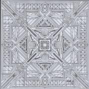 dessin abstrait dessin geometrique abstrait mandala : dessin 7 série b