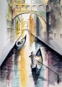 tableau paysages aquarelle paysages : SOUPIRS