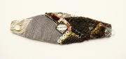 art textile mode abstrait bracelet art textile : BRACELET DSC 2327