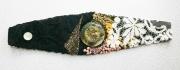 art textile mode abstrait bracelet art textile : BRACELET 004