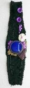 art textile mode abstrait bracelet art textile : BRACELET 007