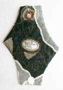 art textile mode abstrait bracelet art textile : BRACELET 008