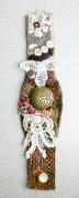art textile mode abstrait bracelet art textile : BRACELET 005