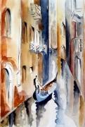 tableau paysages aquarelle paysages : BALADE VENITIENNE