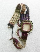 bijoux abstrait bracelet peyote : BRACELET DSC 020