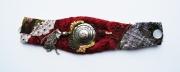 art textile mode abstrait bracelet art textile : BRACELET DSC 2326