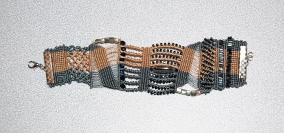 BIJOUX BRACELET MICROMACRAME Abstrait  - BRACELET DSC 2359