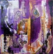 tableau abstrait tableau collage abstrait : ARTISTES