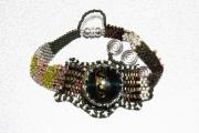 bijoux abstrait bracelet peyote : BRACELET DSC 2354