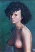 tableau personnages portrait fille buste tcheque : Stania 1968
