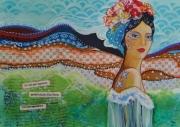 mixte personnages peinture mixtes femme sensuelle mille et une nuit femme nue : Beauté d'une femme