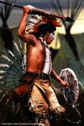 photo personnages warrior native american indien d ameriq guerrier : The warrior