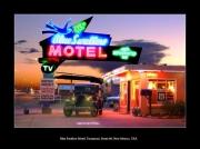 photo scene de genre route 66 motel blue swallow motel tucumcari : Blue Swallow Motel
