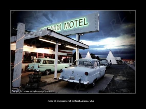 PHOTO Wigwam Motel Route 66 Holbrook Arizona Scène de genre  - Wigwam Motel, Route 66