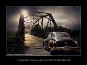 photo scene de genre route 66 rock creek bridge oklahoma chrysler imperial : Route 66 ! Old Rock Creek Bridge