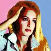 photo personnages popart portrait style popart vintage : Patricia - Pop-Art Style