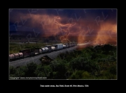 photo paysages train route 66 newmexico storm : Train under storm, New-Mexico
