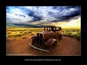 photo scene de genre cars voiture wreck arizona : Old wreck ! Route 66 !