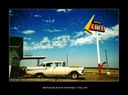 photo scene de genre route 66 texas midpoint cafe ford fairlaine 57 : Route 66, Midpoint Cafe !