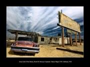 photo scene de genre route 66 californie mercury mojave desert : Route 66, Essex Cafe & Gas Station